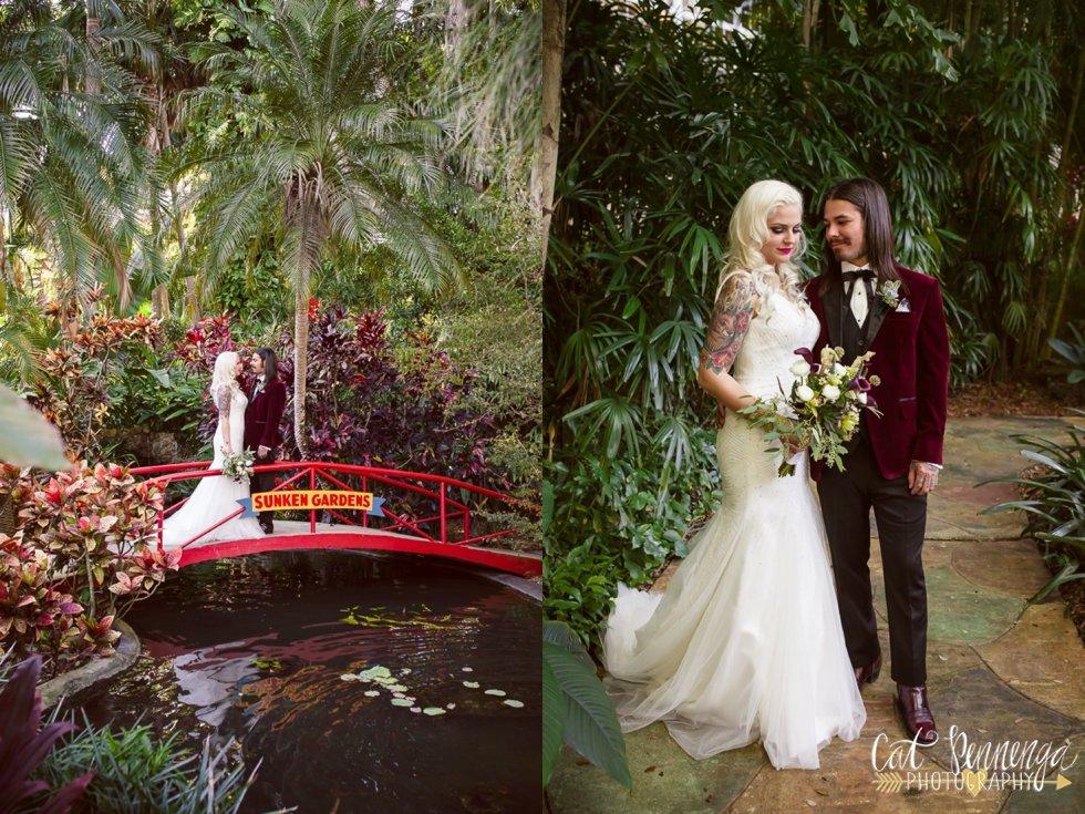 Sunken Gardens Wedding.Gwen Caio Sunken Gardens Wedding