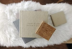 Wedding albums sarasota, wedding photography album, flushmount album, custom design wedding album, Miller's signature album, leather album cover